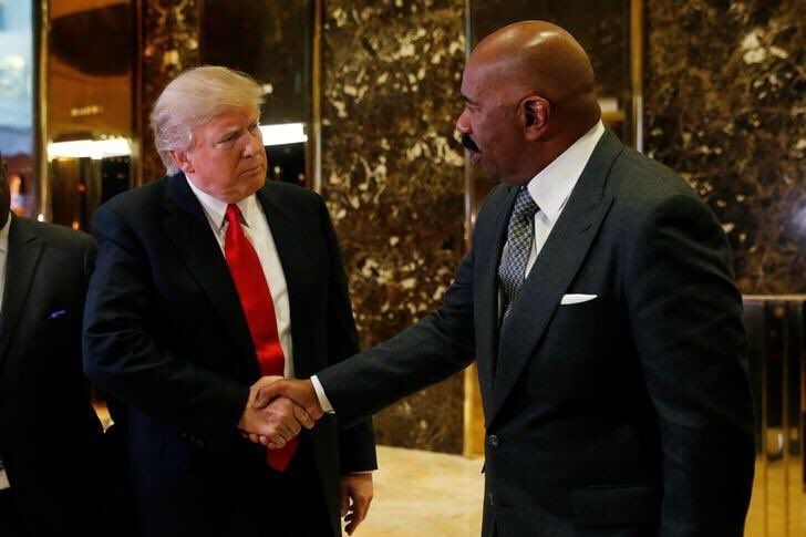 Trump- Thank you for coming to Trump Tower Dr. Ben Carson  Steve Harvey- I'm Steve Harvey  Trump- Sorry Don King https://t.co/70lemND9Wt