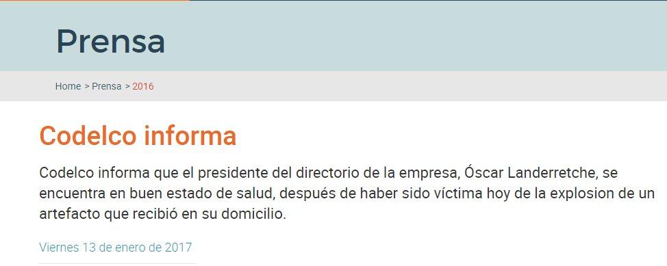 Thumbnail for Atentado afecta a director de Codelco