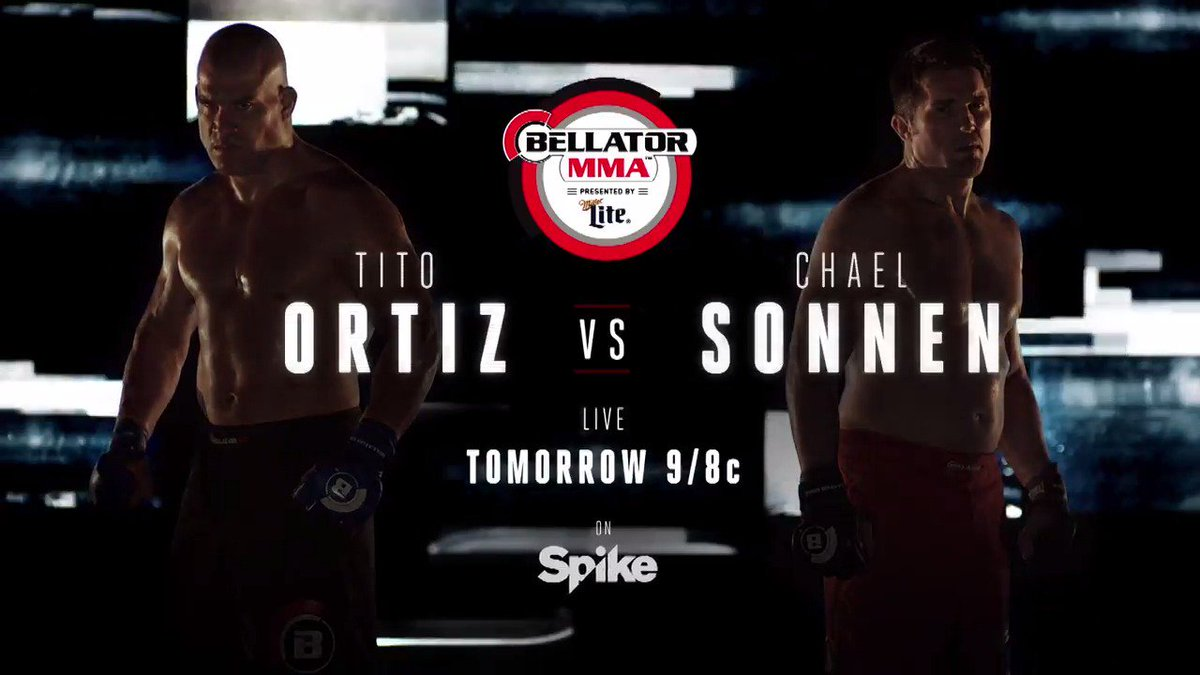 #Bellator170: @titoortiz vs @chaelsonnen goes down tomorrow night, liv...