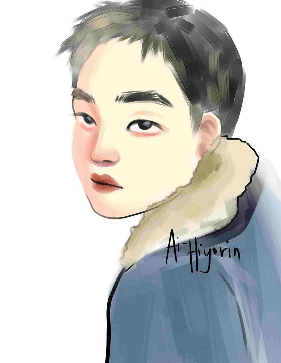 A really late artwork in celebration of ksoo&#39;s bday &lt;3 I shall draw jongin tonight u Uu  #HappyDyoDay #kyungsoo #exo #fanart | DO NOT REPOST<br>http://pic.twitter.com/bbTsXw2vSZ