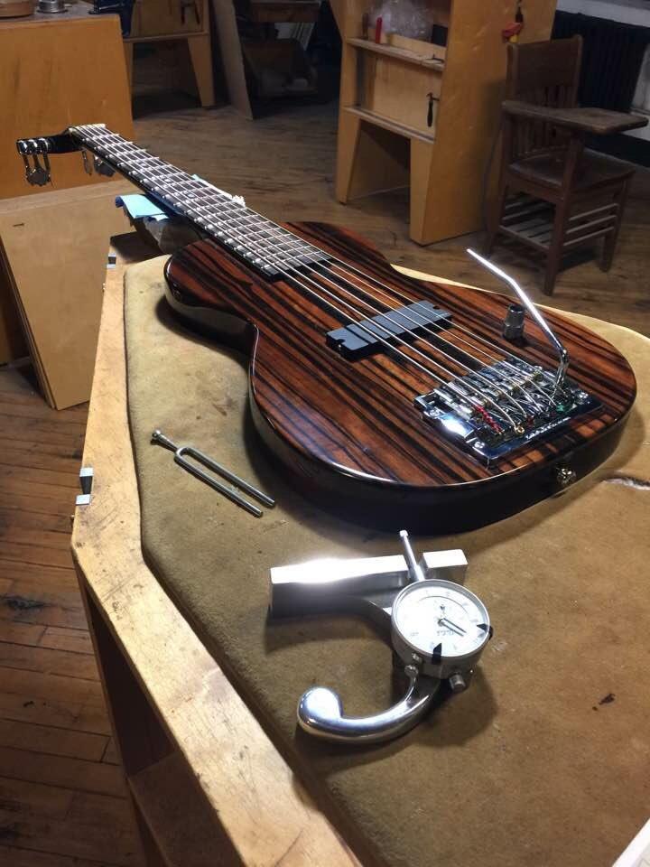 Specimen Octave bass. 32&quot; scale. #guitar #bassguitar #handmade #customguitar #luthier #chicago<br>http://pic.twitter.com/XMkIuDLQLM