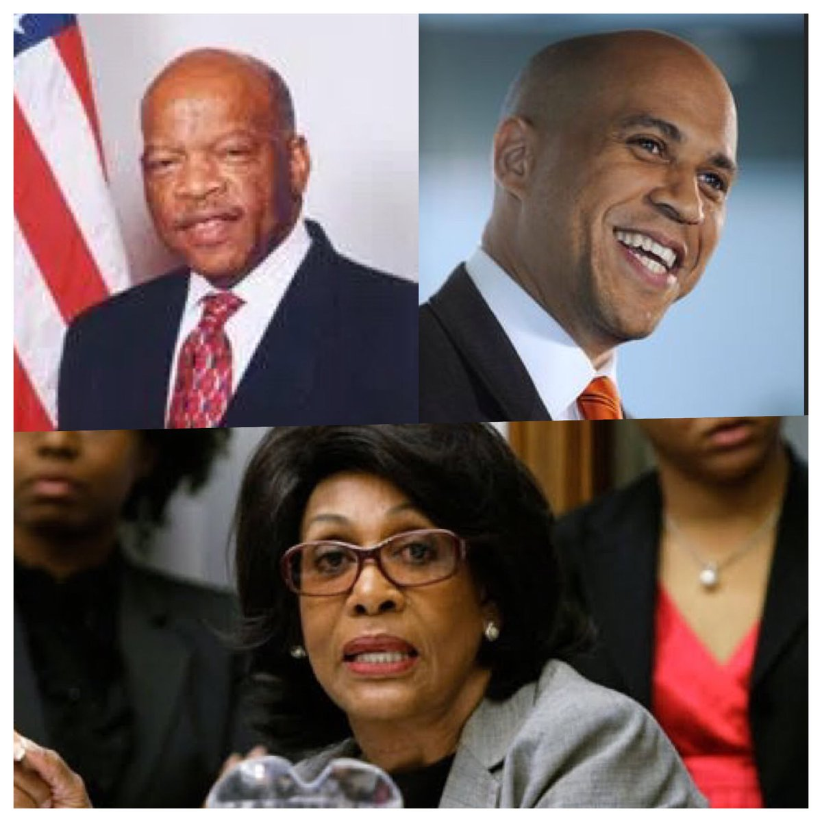 Proud day to see #JohnLewis #MaxineWaters #CoreyBooker #StandUpFightBack. Wake up #Dems. Follow these leaders. @repjohnlewis @MaxineWaters<br>http://pic.twitter.com/LMttlRjY2L