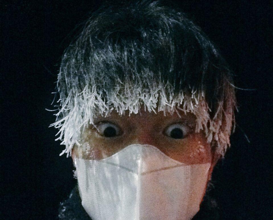 夜中に歩いてたら吐く息で前髪全部凍った 帯広怖い、マイナス20度の世界はナメちゃいけない