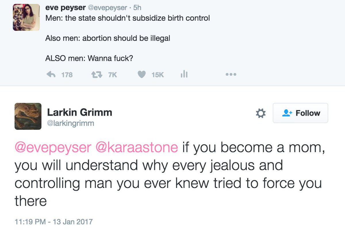 "eve peyser on twitter: ""men: the state shouldn't subsidize birth"