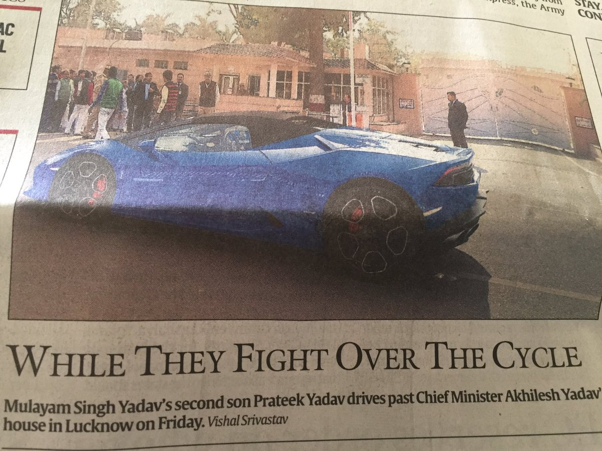 With no end to feud mulayam akhilesh yadav look for life beyond the cycle economic times - Politicsmulayam Singh Yadav Son S Car Makes You Think Why Up Is So Backward