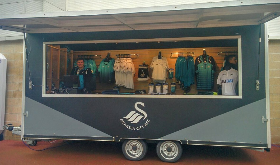 Need a new #Swans jersey? ⚫⚪ Our merchandise trailer is open from 12pm...