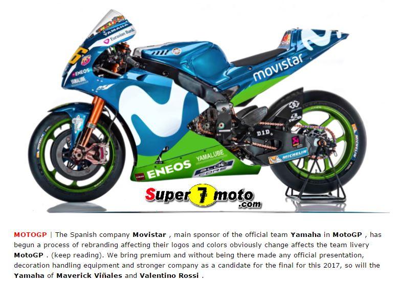 Bocoran motor yang akan digunakan Valentino Rossi musim 2017.