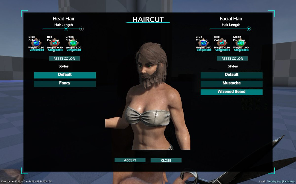 how to cut your hair in ark