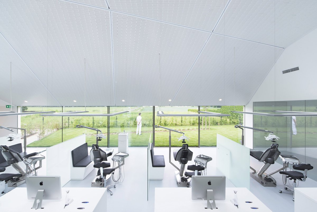 Green Eco Office Building Interiors Natural Light Wood Green Eco