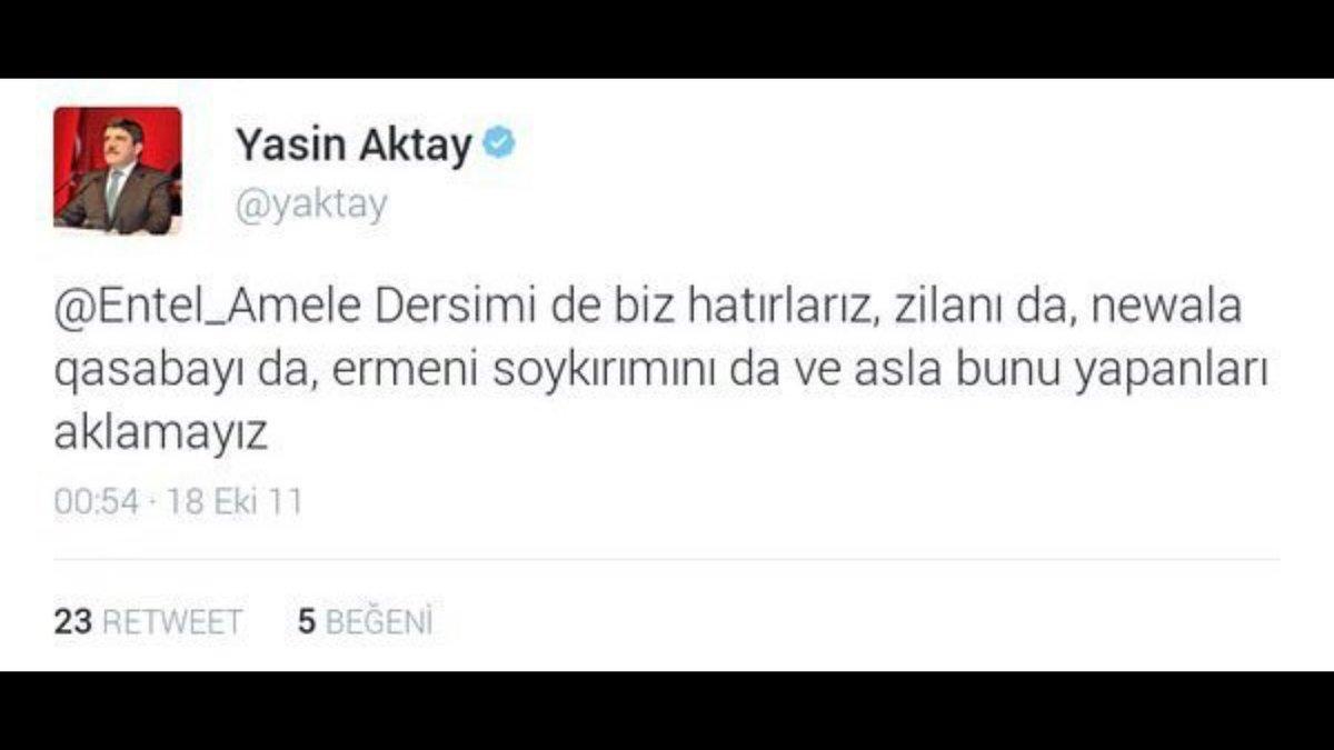 Garo Paylan'ı soykırım dedi diye meclisten atanlar için AKP sözcüsünün eski twiti şurda dursun... https://t.co/NLn9FvOEj8
