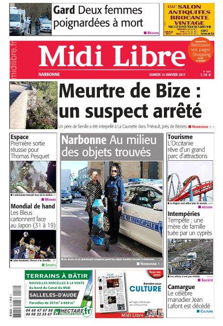 A la une de #MidiLibre #Narbonne ce samedi. En immersion avec le service des objets trouvés.<br>http://pic.twitter.com/cI1iHabeSd