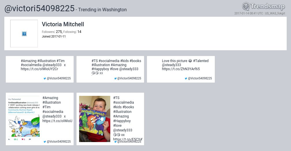 Victoria Mitchell, @victori54098225 is now trending in #DC  https://t.co/2RKBE3NQ9z https://t.co/9ZPBoR1moS