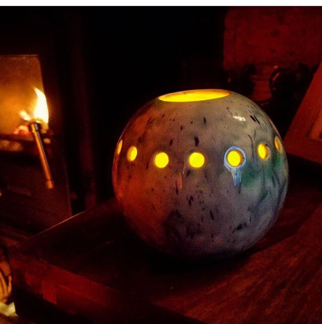 #handmade Illumination Spheres available from  http://www. blackstarceramics.co.uk  &nbsp;   #Candles #HomeSweetHome #homedecor<br>http://pic.twitter.com/TyAGdTZFTO