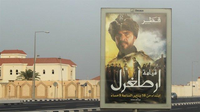 Katar sokaklarına Diriliş Ertuğrul'un afişleri asıldı https://t.co/WmM...