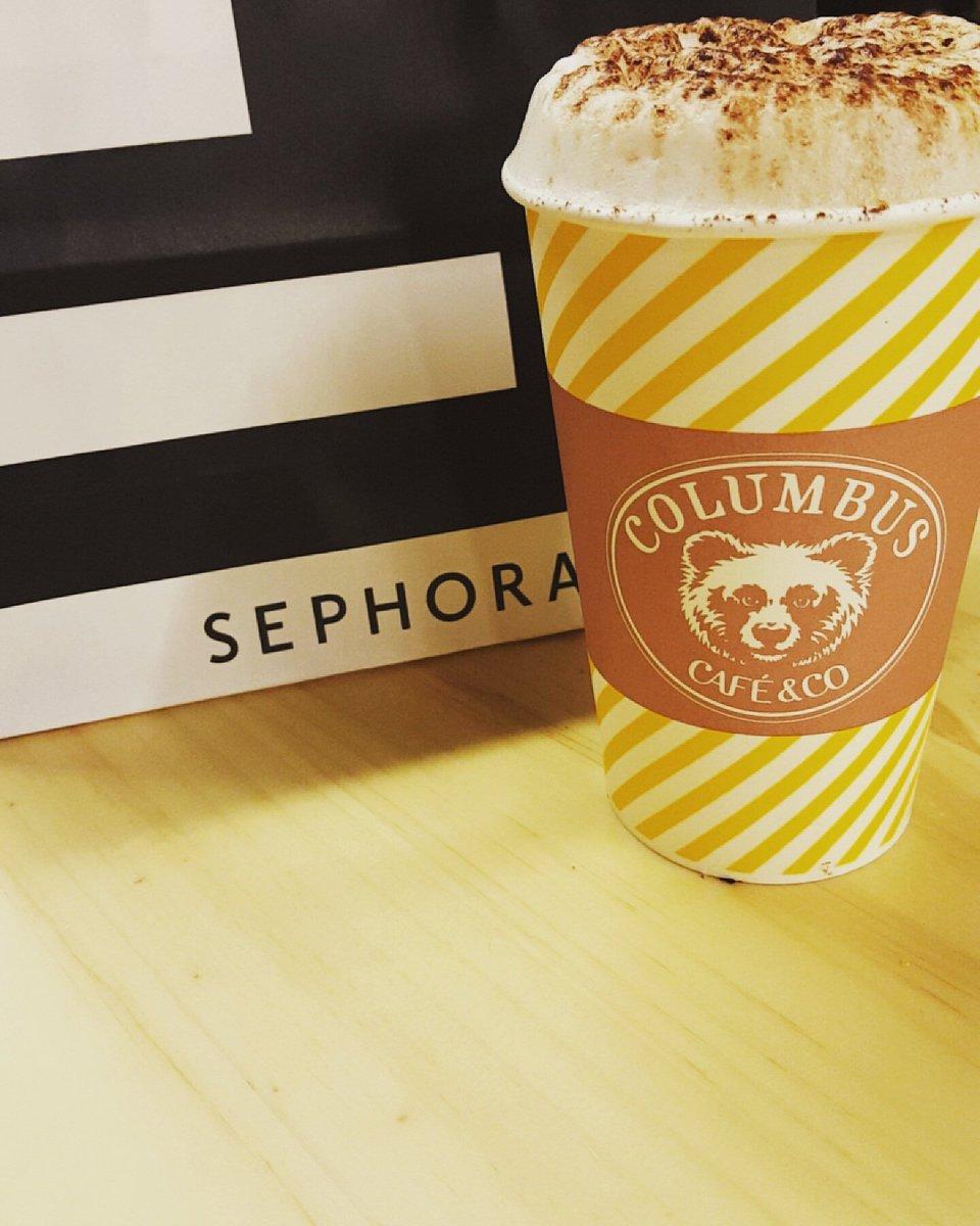 Comment passer une bonne journée ? J&#39;ai la reponse : @Sephora puis @columbus_cafe en amoureux  #Sephora #coffeelovers<br>http://pic.twitter.com/BFmE9SBHtx