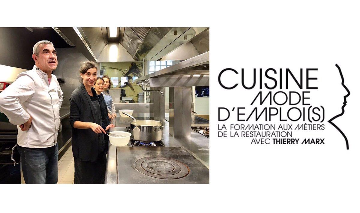 Visite de l&#39;école parisienne #CuisineModeDemplois du Chef #ThierryMarx, dont #GRDF est Partenaire. [#Cuisine #Emploi #Solidarité #Insertion]<br>http://pic.twitter.com/CLy1CgvT0f