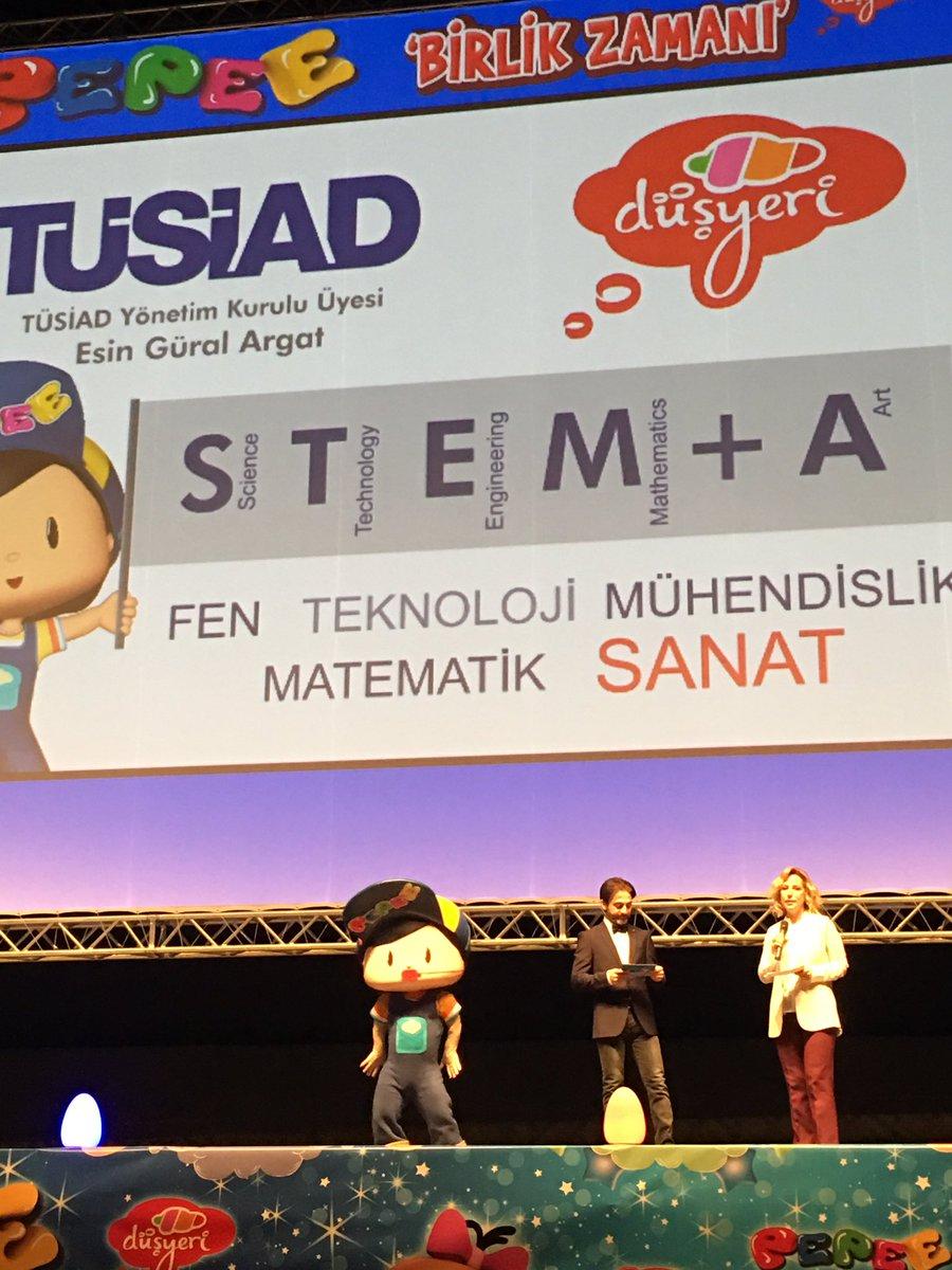 @TUSIAD #Pepee ile STEM+A'yı tanıttı artık çocuklar icat çıkarsın @esi...