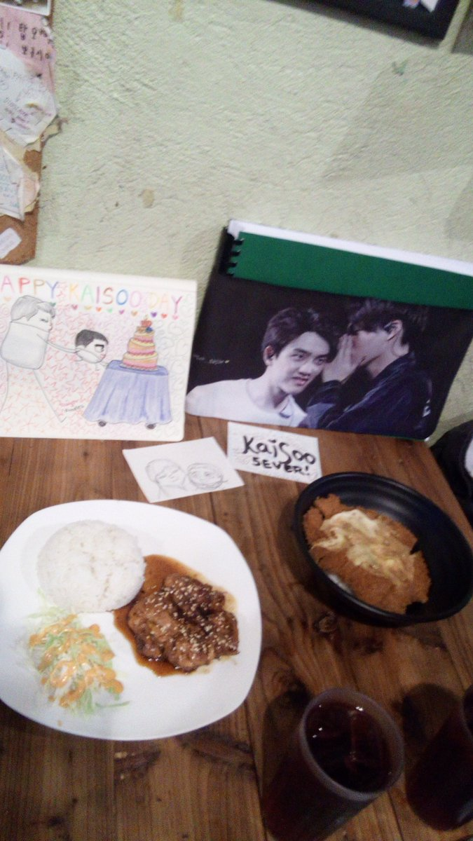 celebrating our beloved daddies&#39; day w/ dear KD sibling @bearnheart26~  #HappyKaisooDay #HappyKAIDay #HappyDyoDay <br>http://pic.twitter.com/pwhoC0MWS9