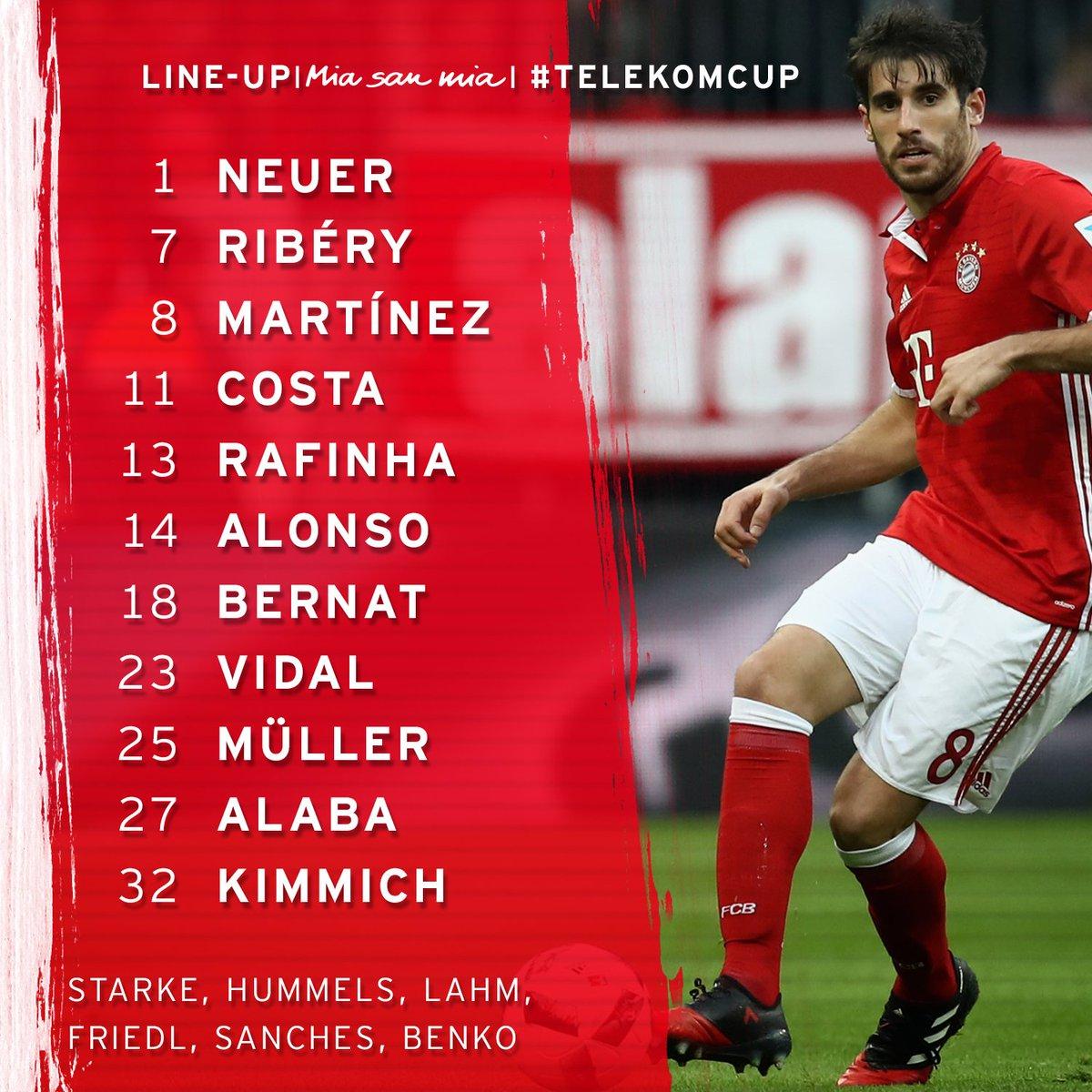 Unsere Aufstellung für Spiel 1 im #TelekomCup gegen Düsseldorf! #packm...