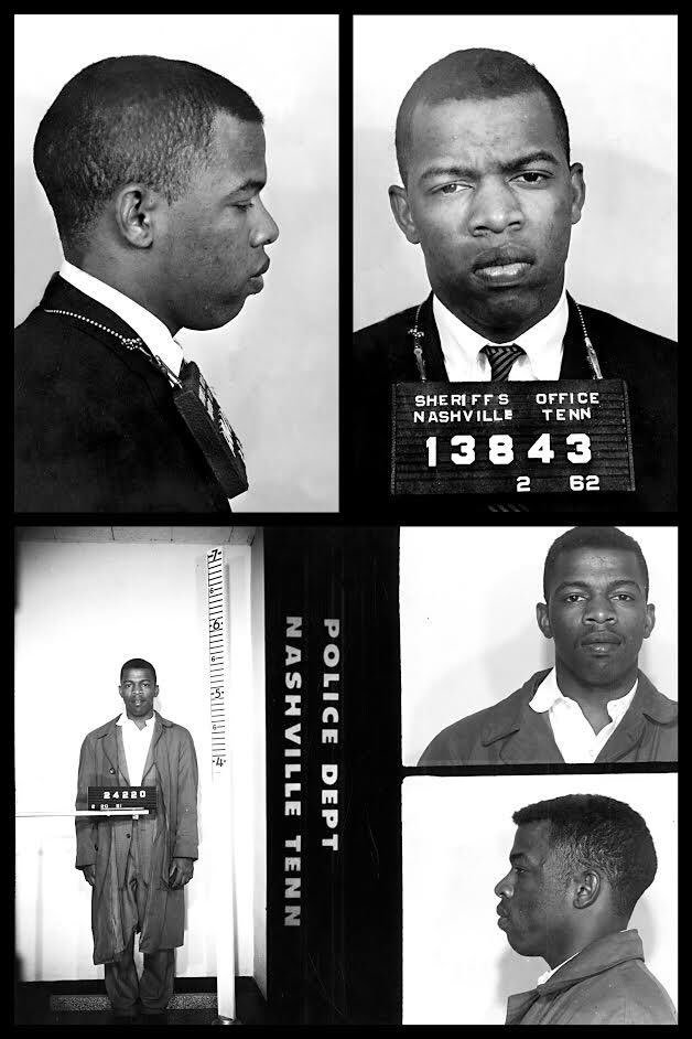 John Lewis was arrested 45 times, while Donald Trump dodged the draft.  All talk, no action.