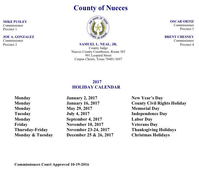 "Monday is not Martin Luther King Jr. Day in Nueces County, Texas.   It's a ""County Civil Rights Holiday."" https://t.co/ZRu33p6PLi"