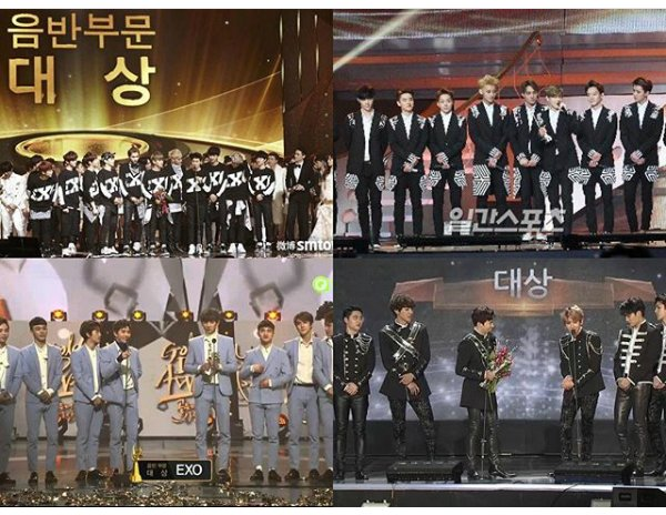 Exo won disk daesang @GDA for 4 consecutive years. #Exol #TeamEXO #SOOMPIAWARDS <br>http://pic.twitter.com/MxK06jcWUG