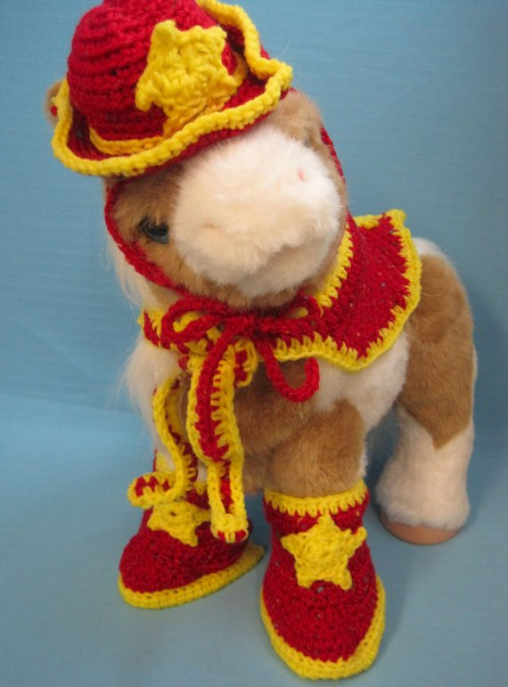 ❧ Pet #Sets #Dog #Cowboy Hat, Boots, Scarf Bright Red Handmade Crochet by B... Consider Now  http:// etsy.me/2iREzSH  &nbsp;  <br>http://pic.twitter.com/4ruBPTCrU9