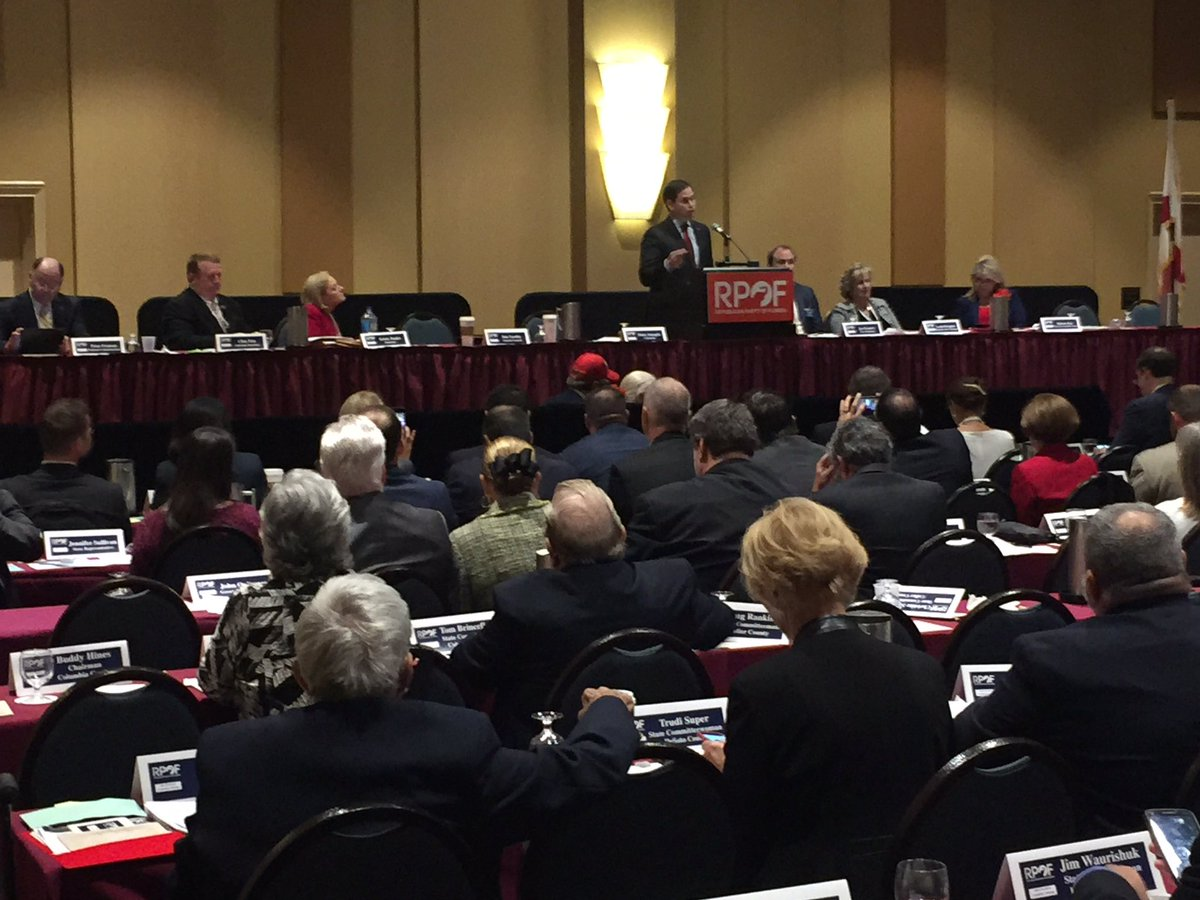 Senator @marcorubio addressing our great and hardworking grassroots at the RPOF Annual! #sayfie #flapol<br>http://pic.twitter.com/Gz8CyzEhbi