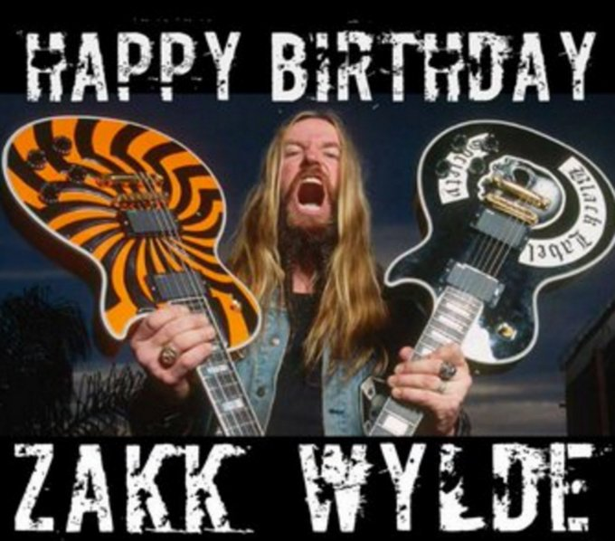 A very special Happy Birthday today to one of my biggest influences, inspirations and heros Zakk Wylde is 50 today.