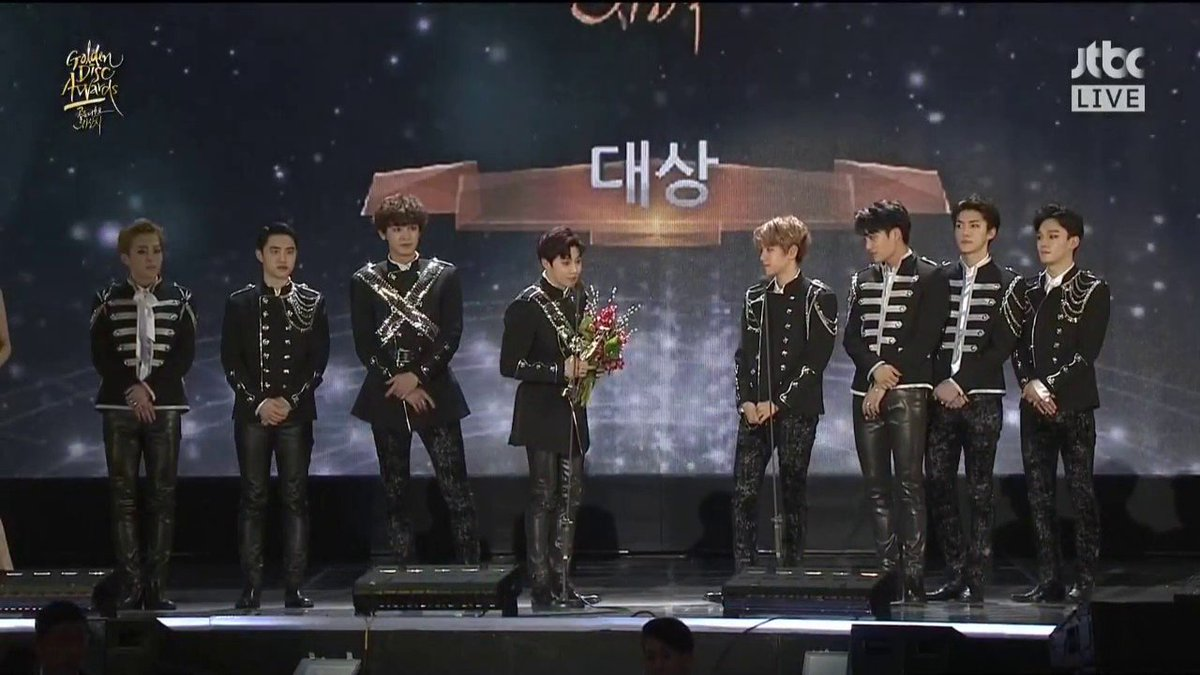 #EXO wins \'Album of the Year\' for record 4th time in a row at \'Golden Disk Awards\'
