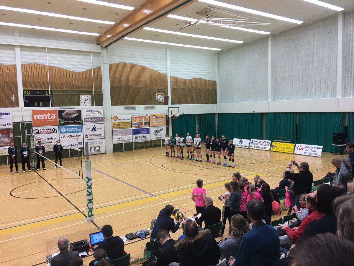.@PolkkyKuusamo voittaa 25-16 ja erin 3-1 ja tarraa liigan kolmospaikkaan! Noin! #Kuusamo #mestaruusliiga<br>http://pic.twitter.com/vFxVO7IJkv