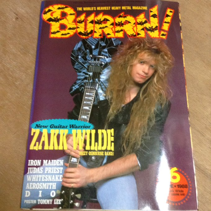Zakk Wylde [January 14, 1967] Happy Birthday ZAKK!!  1988 6