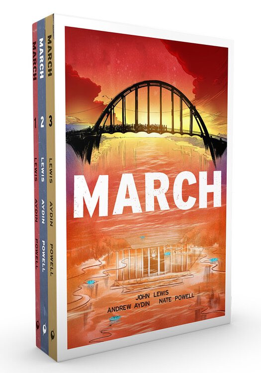 I'm giving away one March (Trilogy Slipcase Set). RT before 1 PM CST to enter the drawing. https://t.co/r4srzuJaxG https://t.co/AMptSDzJR2