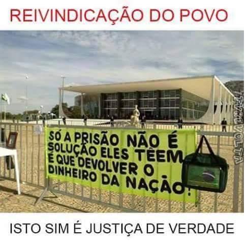 O povo brasileiro aguarda a prisão de todos os corruptos canalhas e a devolução do dinheiro roubado da nação. https://t.co/HNnNTRc7Rb