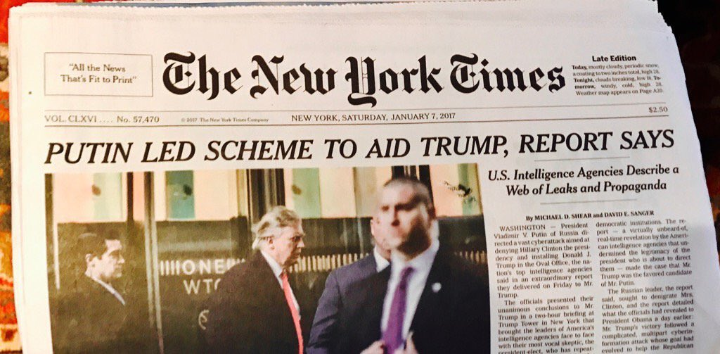 Image result for russia trump headlines new york times