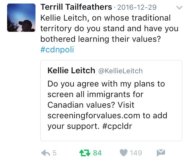 Wonder what would make @KellieLeitch attack the Indian Act?