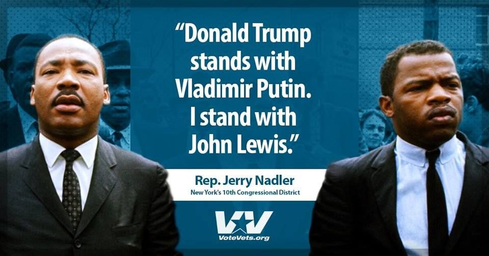"""@DearAuntCrabby: Auntie stands with @repjohnlewis! A true American hero and treasure! https://t.co/nSJuohWL8u""/I stand with John Lewis!"