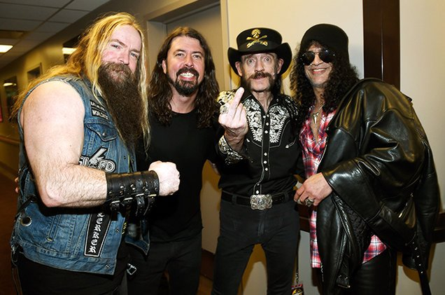 Happy Birthday Zakk Wylde and Dave Grohl. Pic from Dave\s birthday bash on 10th January 2015 by Kevin Mazur.