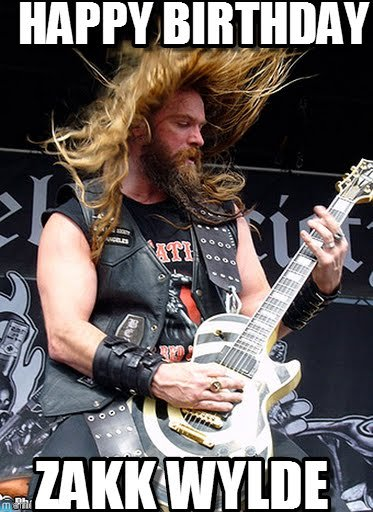 We at  wish Zakk Wylde a very happy birthday!!