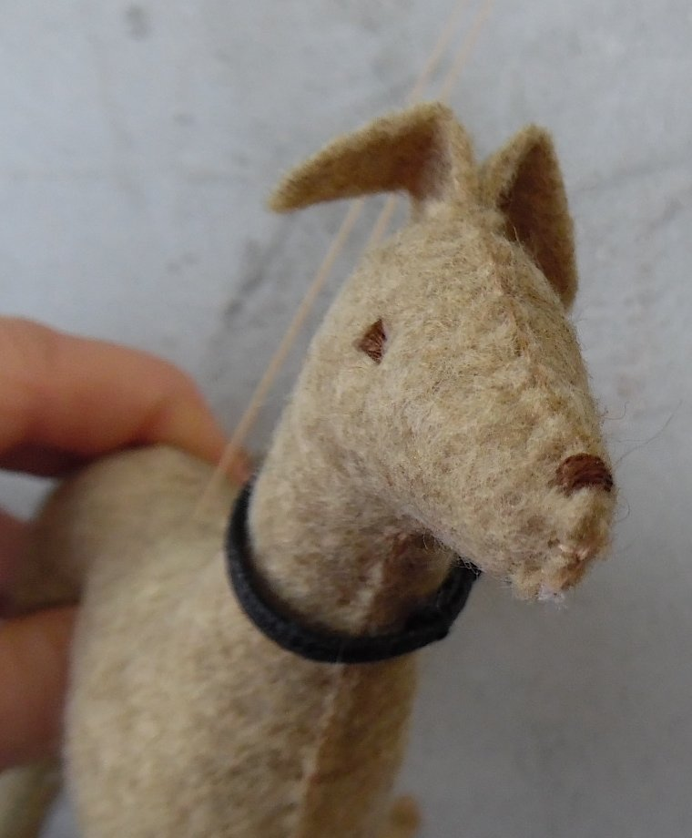 Cute? You bet! This is Dusty the fawn colored felt #greyhound. Take him home! Only from #Dogbarks. #handmade https://t.co/gOI8XzPEKK