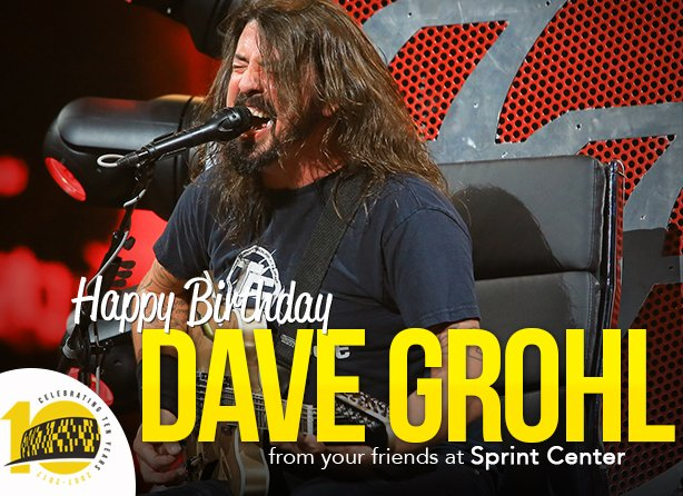 Happy Rocking Birthday to frontman Dave Grohl. Here his is at back in 2015.