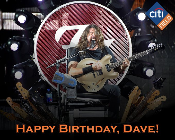 Happy Birthday to a legendary performer, Dave Grohl of the Keep rockin !