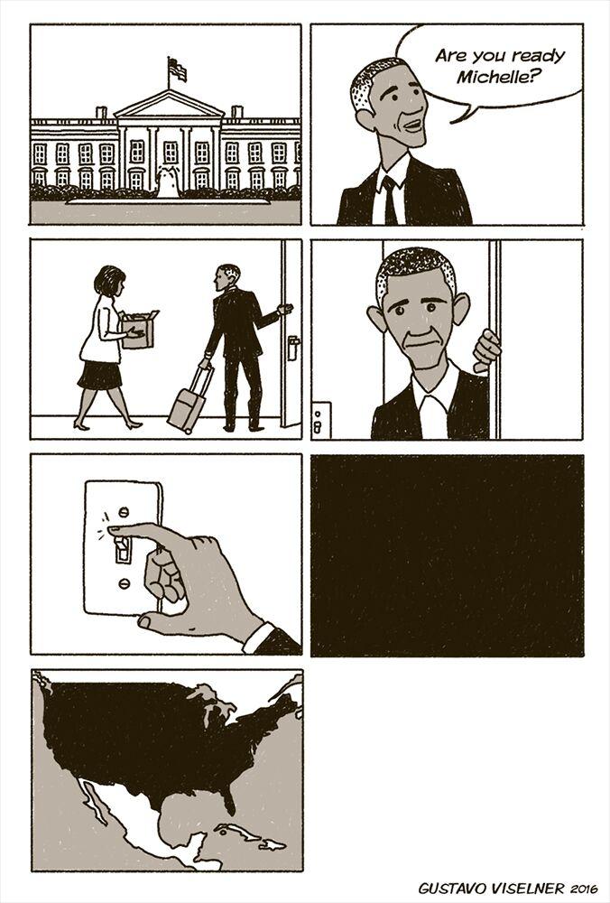 Plus que 6 jours avant que #Trump ne soit officiellement PR des #EtatsUnis et le départ de @BarackObama et ....<br>http://pic.twitter.com/LwbFSNB0oA