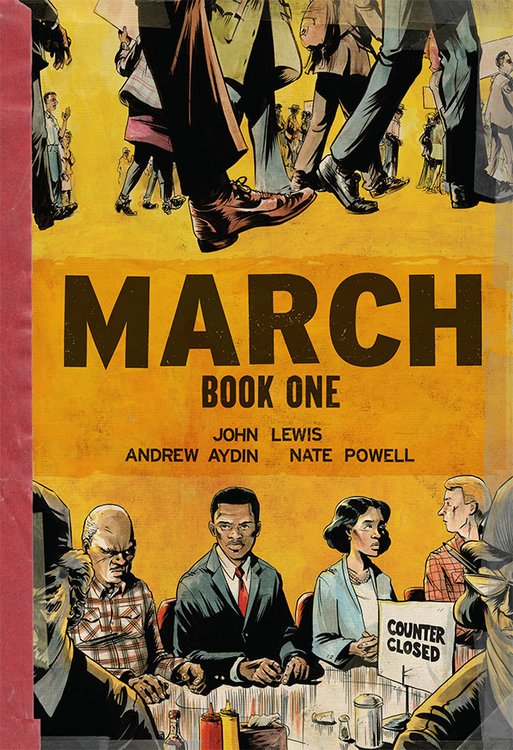 Today is a good day for John Lewis's MARCH https://t.co/0imJnU3yhp
