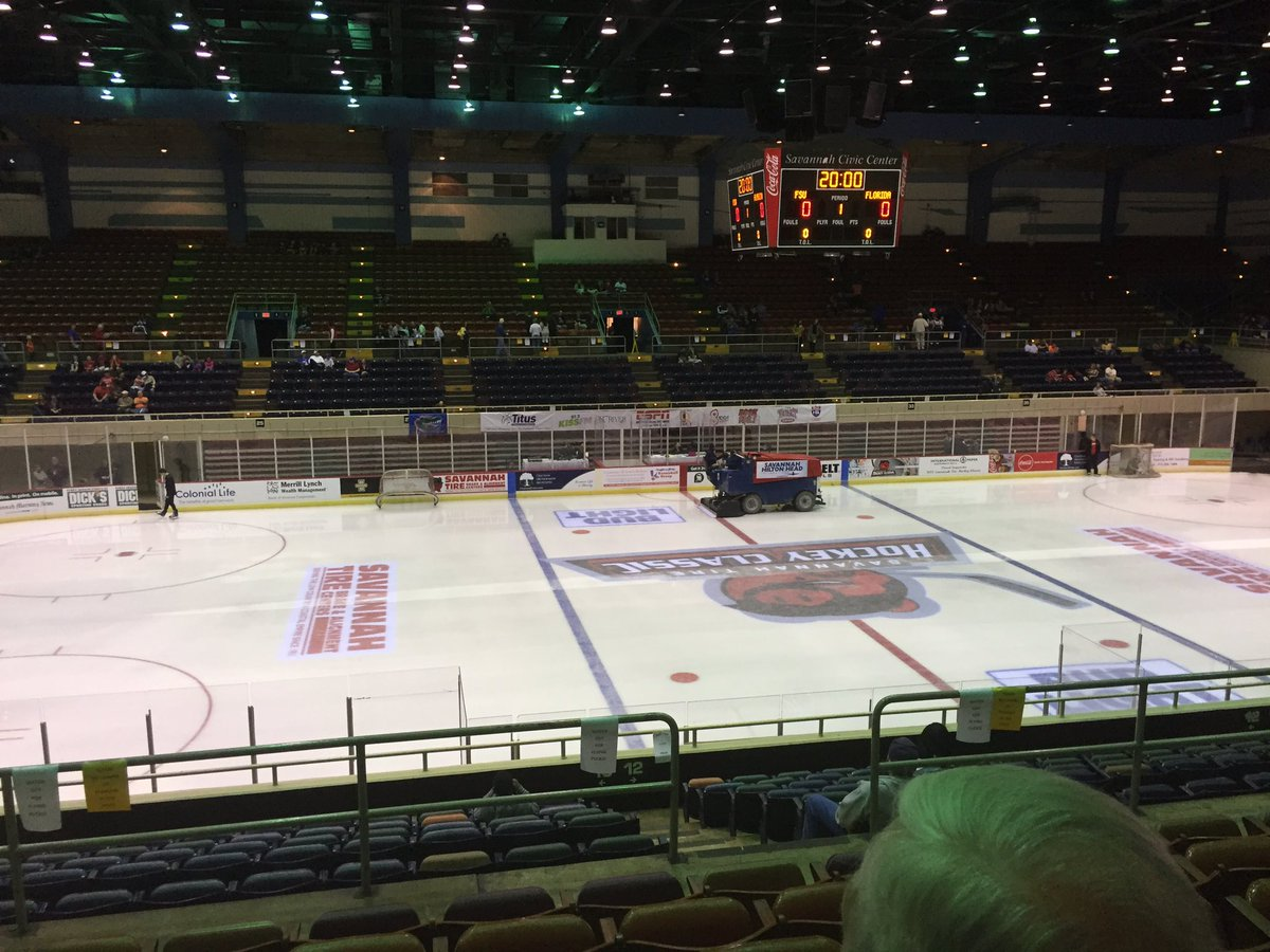 Y\'all ready for some hockey?? #savannahtirehockeyclassic #game1 #ufvsfsu