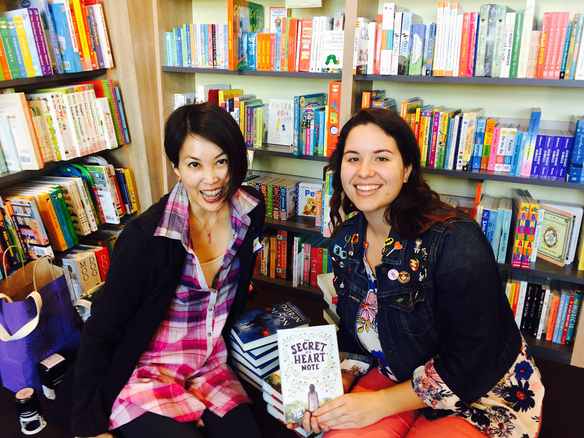 Author Stacey Lee and NYMBC Coordinator Hannah