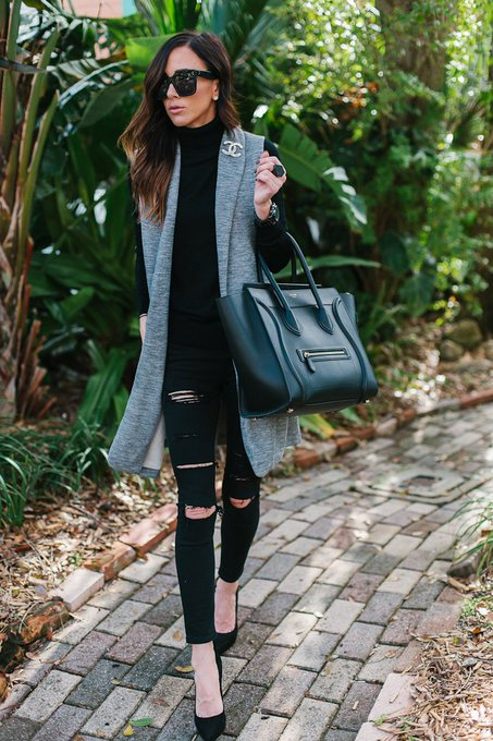 SLEEK BLACK + GRAY LOOK WITH NORDSTROM