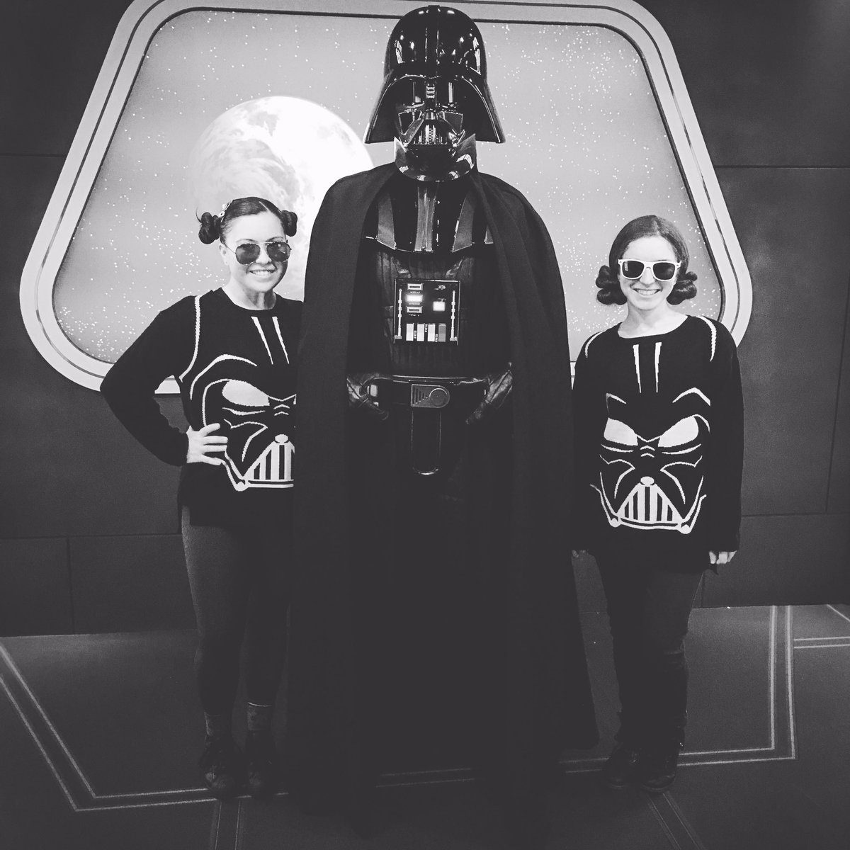 @HerUniverse our week at #Disneyland wouldn't have been the same without your #StarWars Darth Vader sweaters ❤