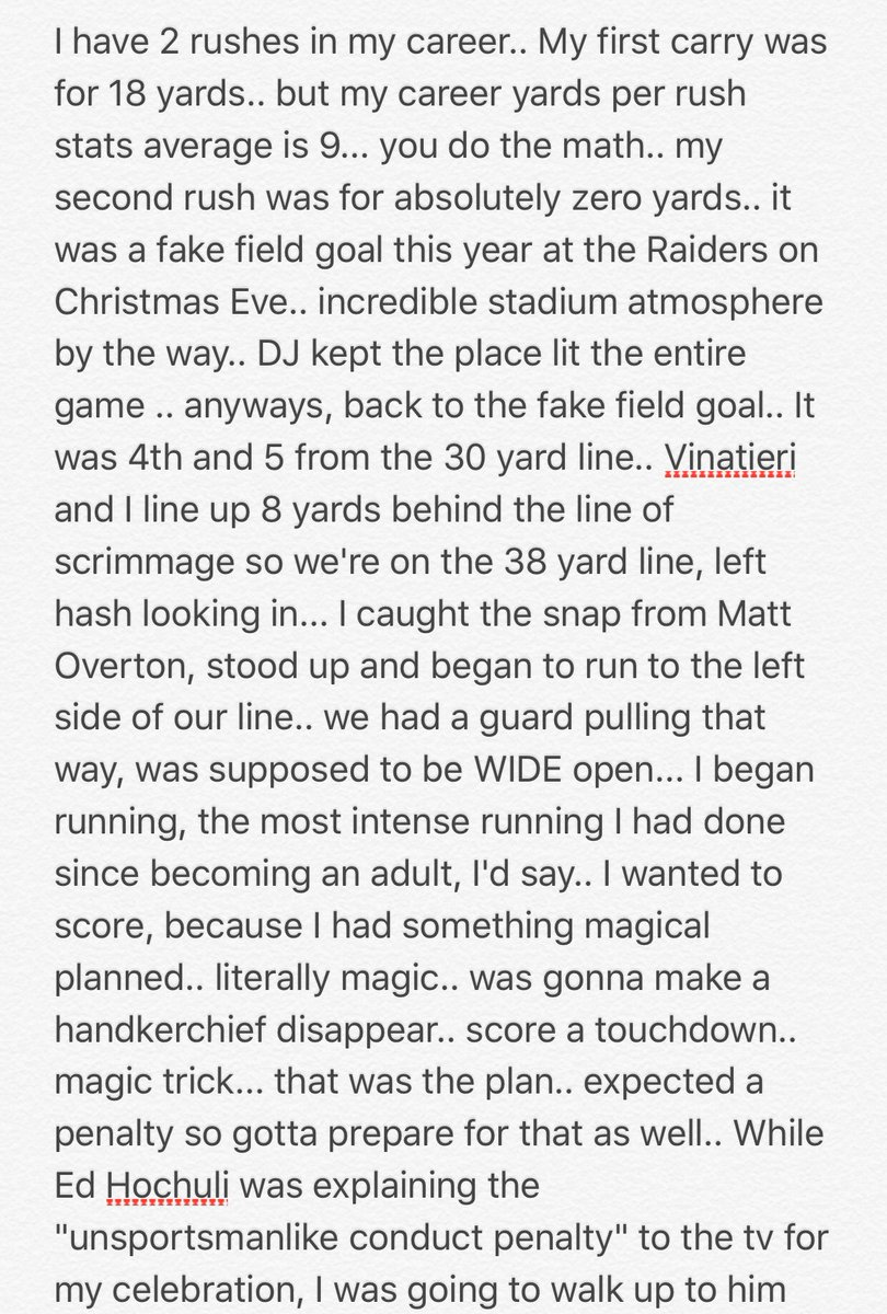 It's halftime.. feel free to read about me as a RB in the #NFL (18+) #America #Athlete