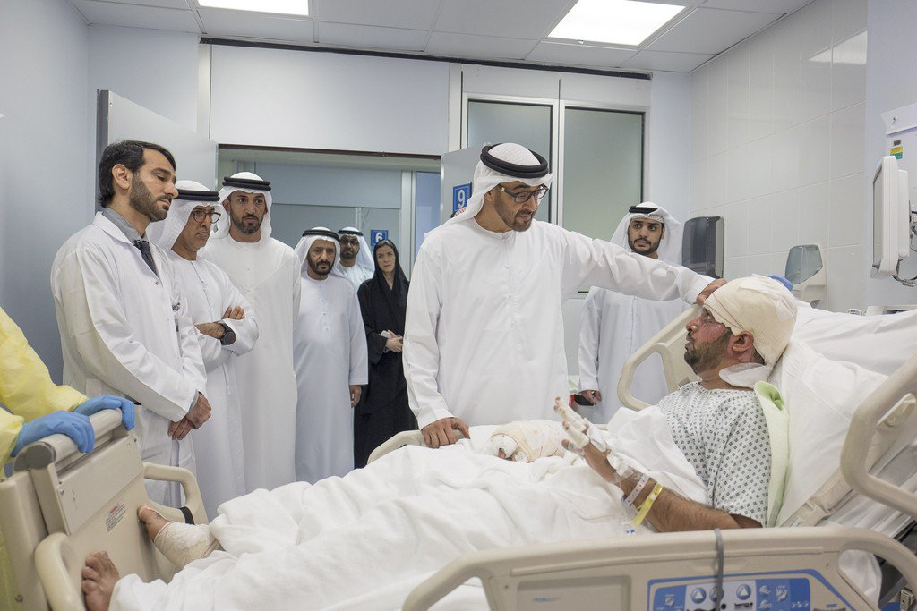 Sheikh Mohammed bin Zayed visits men injured in Afghanistan terror attack https://t.co/nPGbpzY1Cz https://t.co/7tStqHXLWd